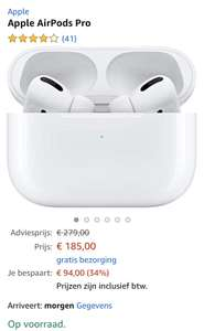 Apple airpods pro met korting @Amazon