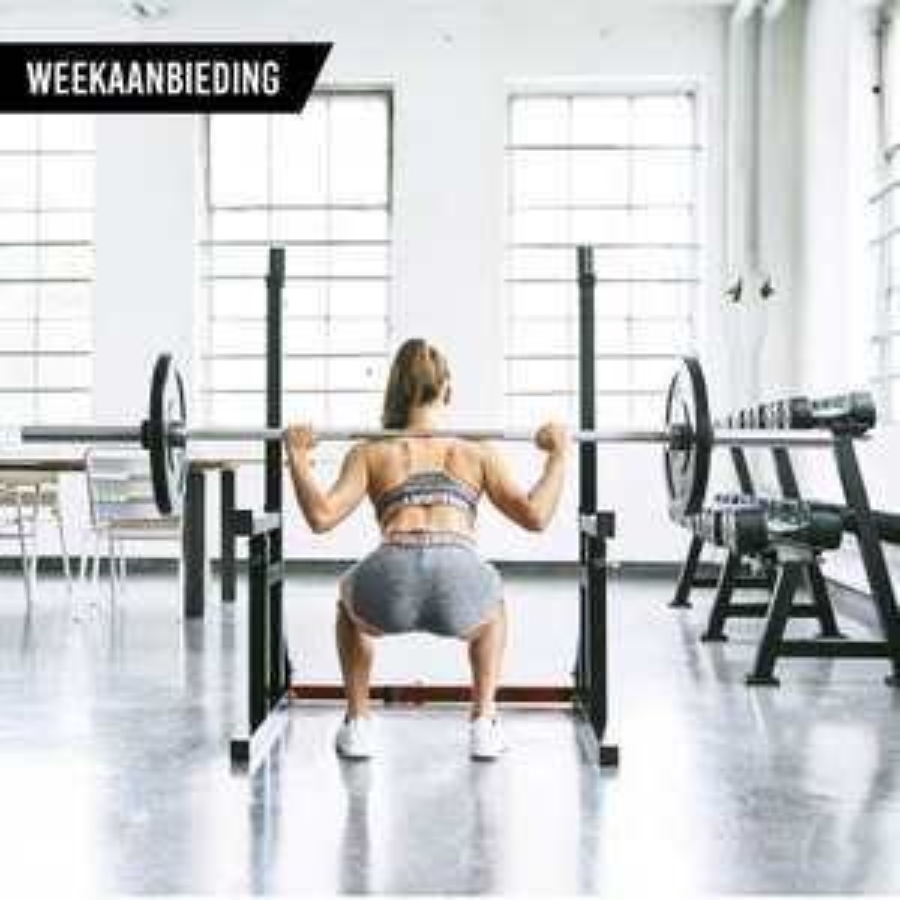 Squat/bench press rack