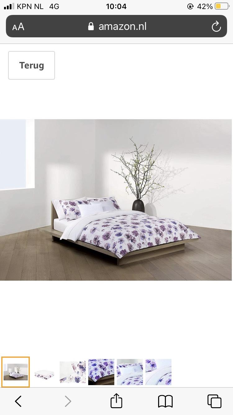 Calvin Klein Watercolor Bloom beddengoedset voor eenpersoonsbed, katoen