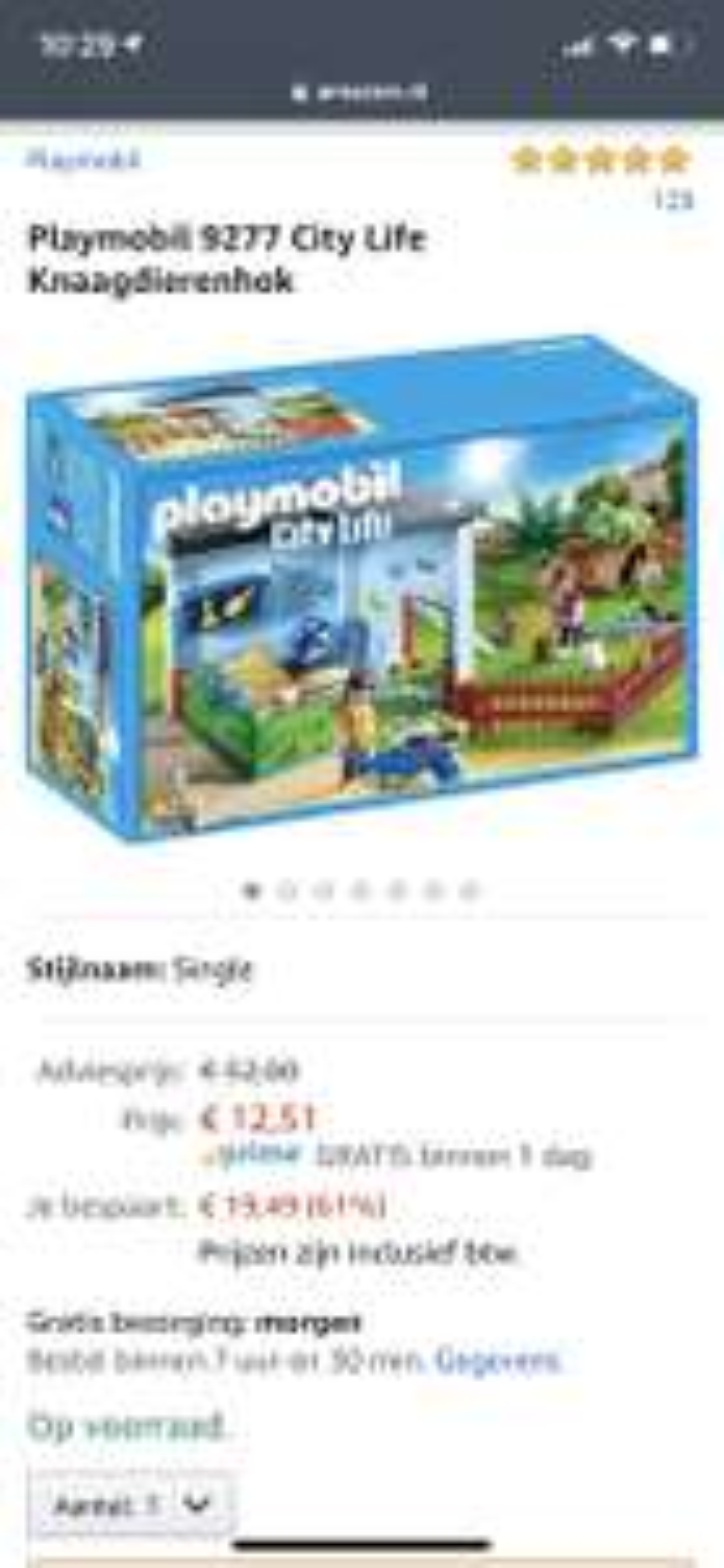 Playmobil 9277 City Life Knaagdierenhok en katten 9276 (Prime voor gratis verzenden)
