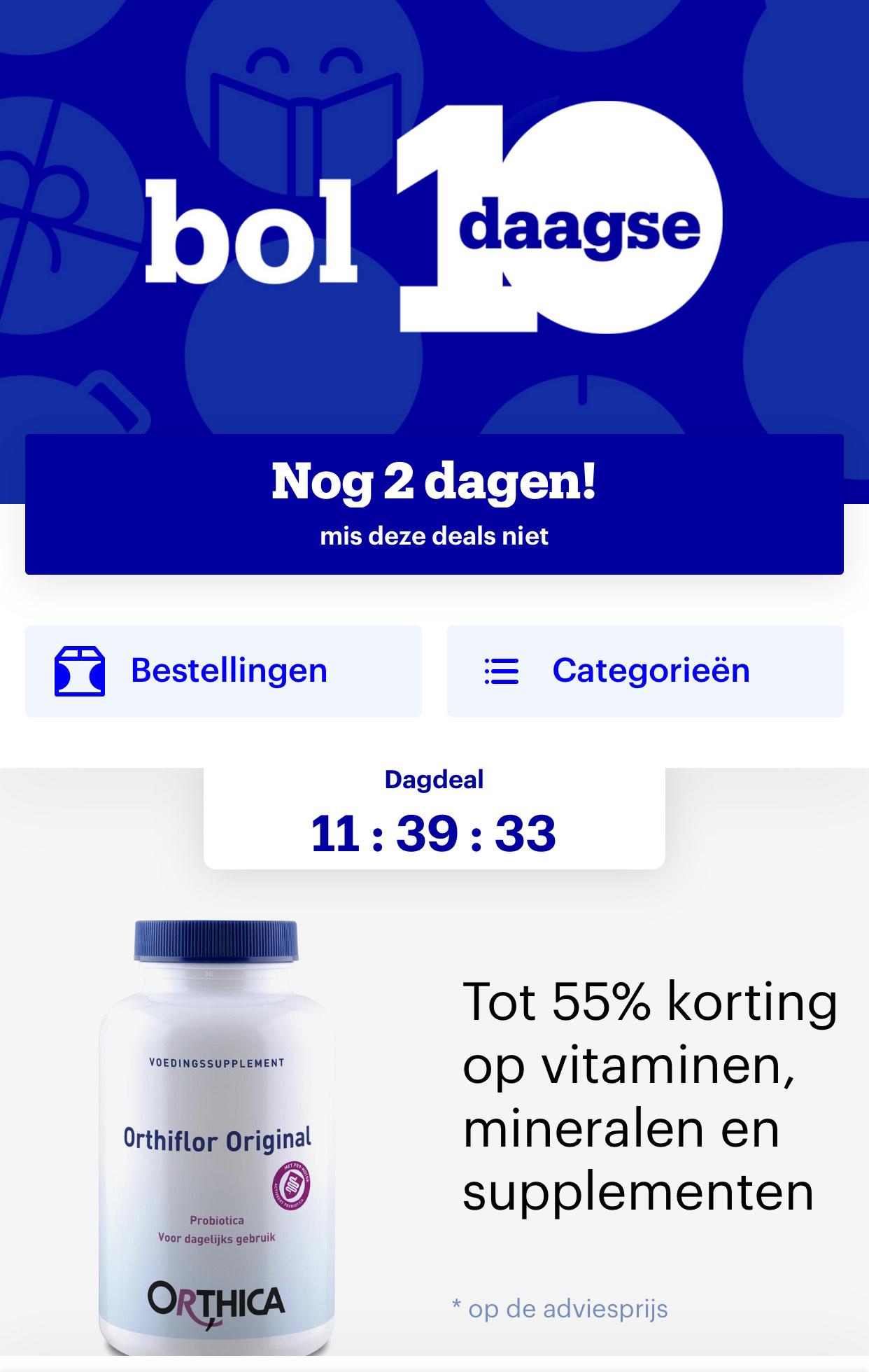 Tot 55% korting op vitaminen, mineralen en supplementen bij Bol.com