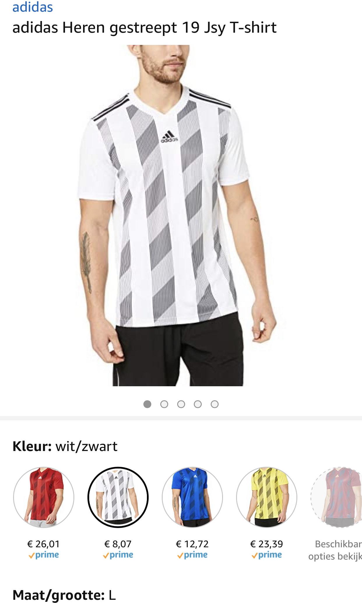 adidas Heren gestreept T-shirt vanaf €8,07