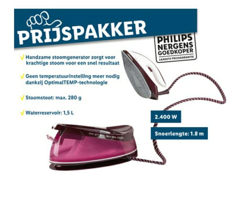 Philips GC7808 stoomgenerator in de aanbieding bij LIDL supermarkten
