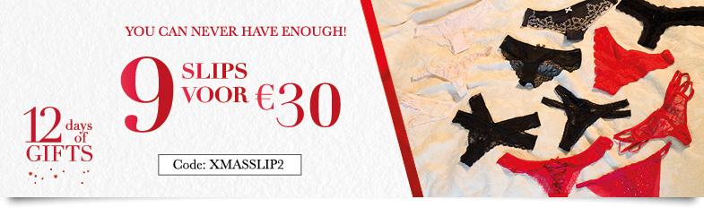 9 slips voor 30 euro @ Hunkemöller