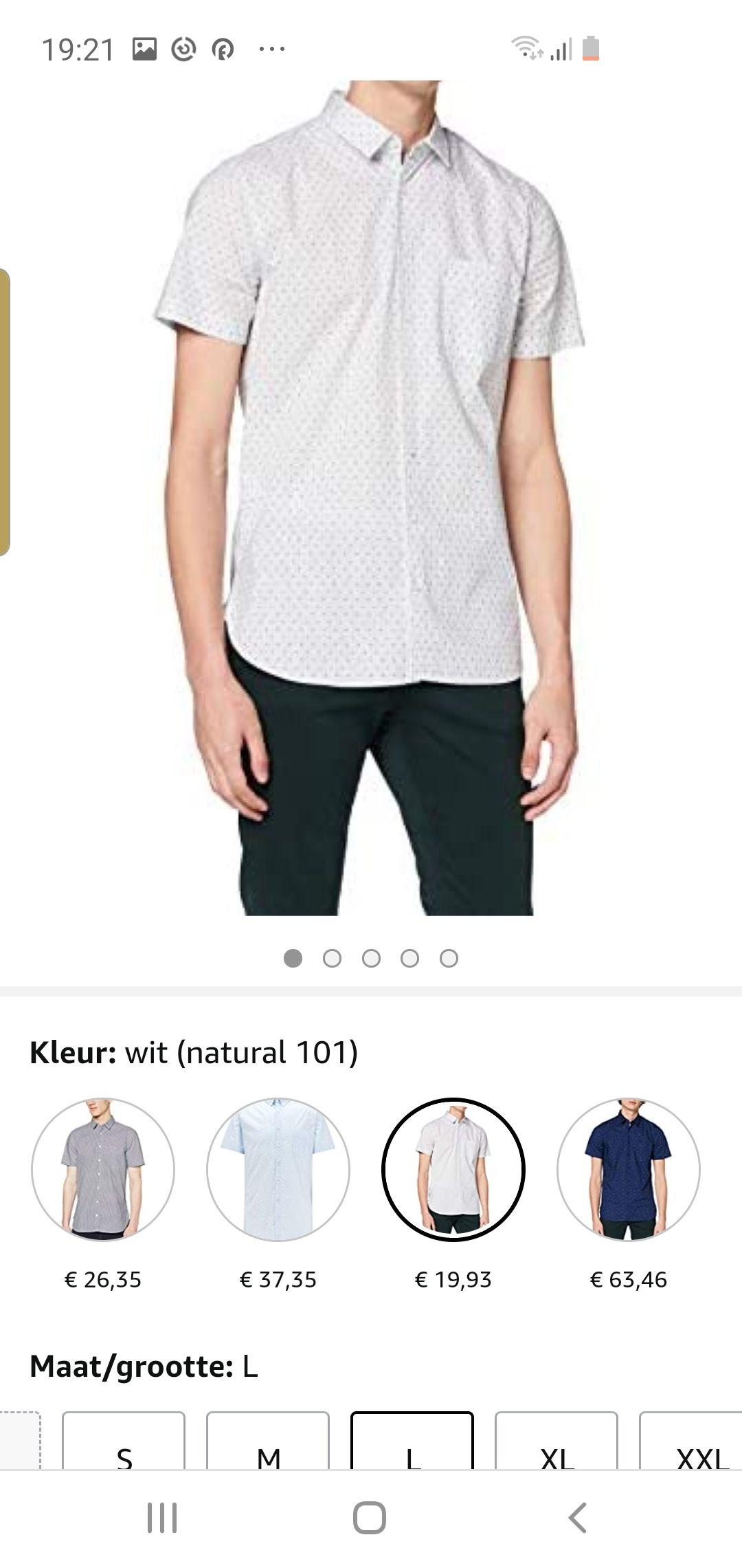 Hugo boss korte mouwen overhemd