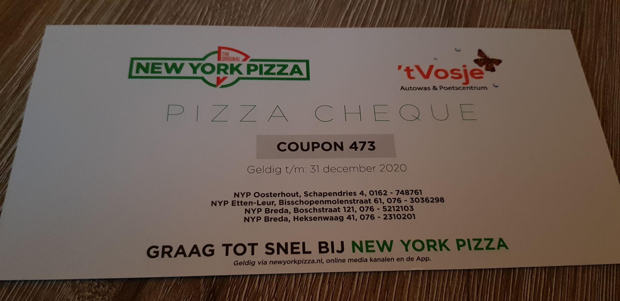 2e pizza gratis - New York Pizza