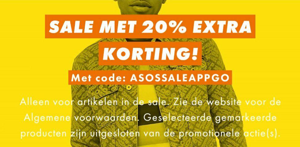 20% extra korting op de sale AppOnly @ASOS