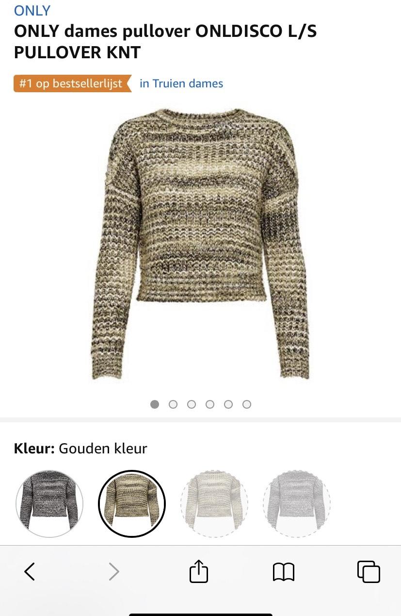 Only trui ook voor €0,50 meer in zwart grijs