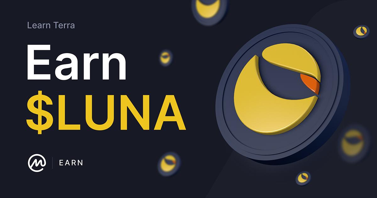 Gratis crypto bij CoinMarketCap earn LUNA