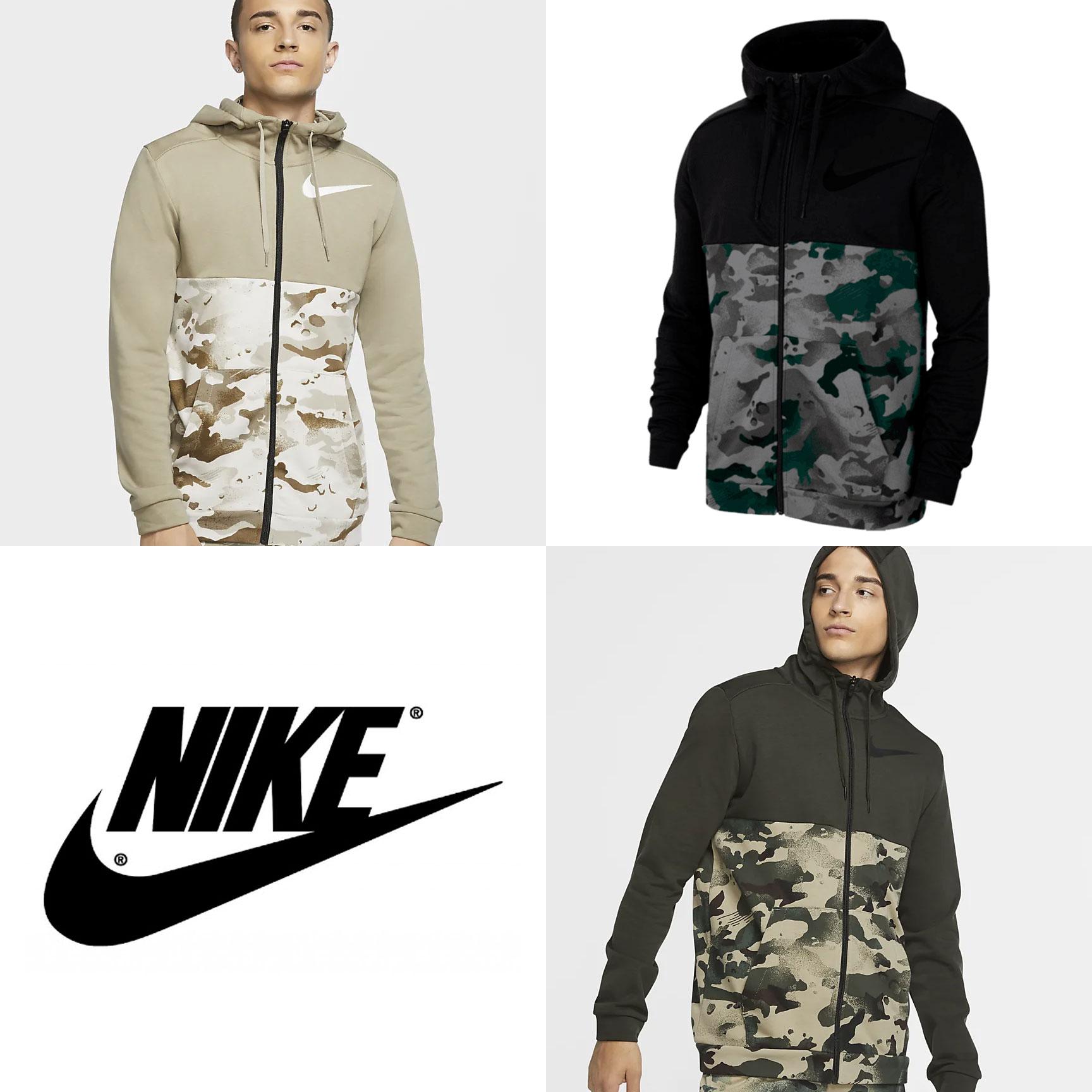Nike camo hoodie - 3 kleuren @ Geomix
