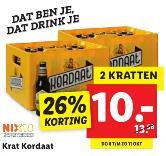 2 kratten Kordaat bier voor €10 @ Lidl