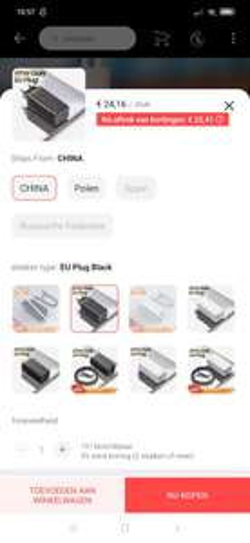 Baseus GaN 65W USB C lader