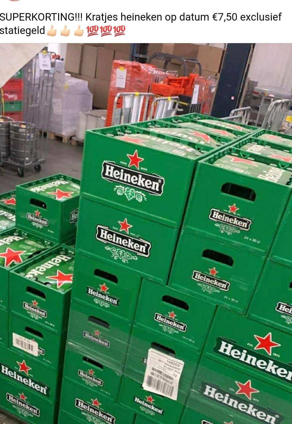 [Lokaal Arnhem] kratjes Heineken op datum voor €7,50 excl. statiegeld @Geldersepartijhandel