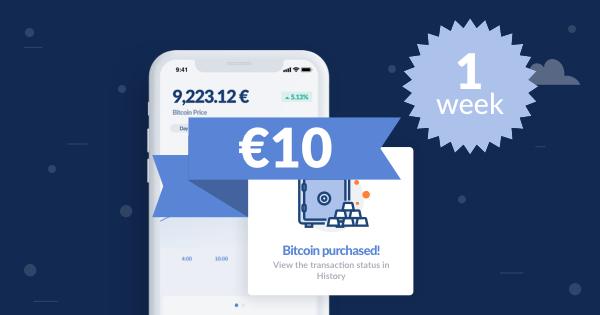 Gratis Geld - €10,- als je weer trade @ Bitwala