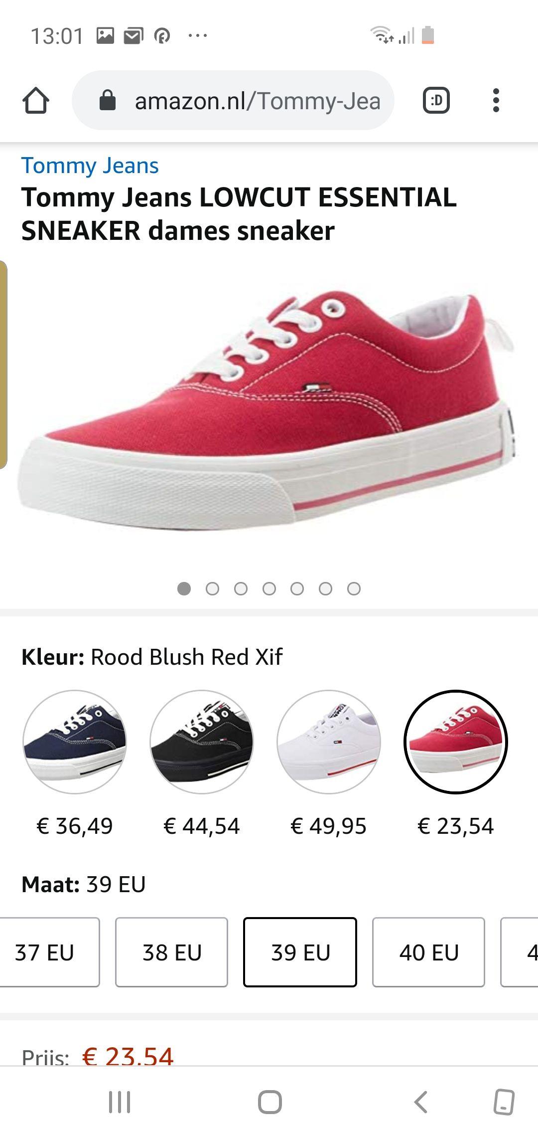 Tommy Jeans LOWCUT ESSENTIAL SNEAKER dames sneaker