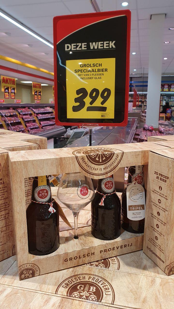 [Lokaal] Grolsch Speciaalbierpakket met glas @Nettorama Hengelo