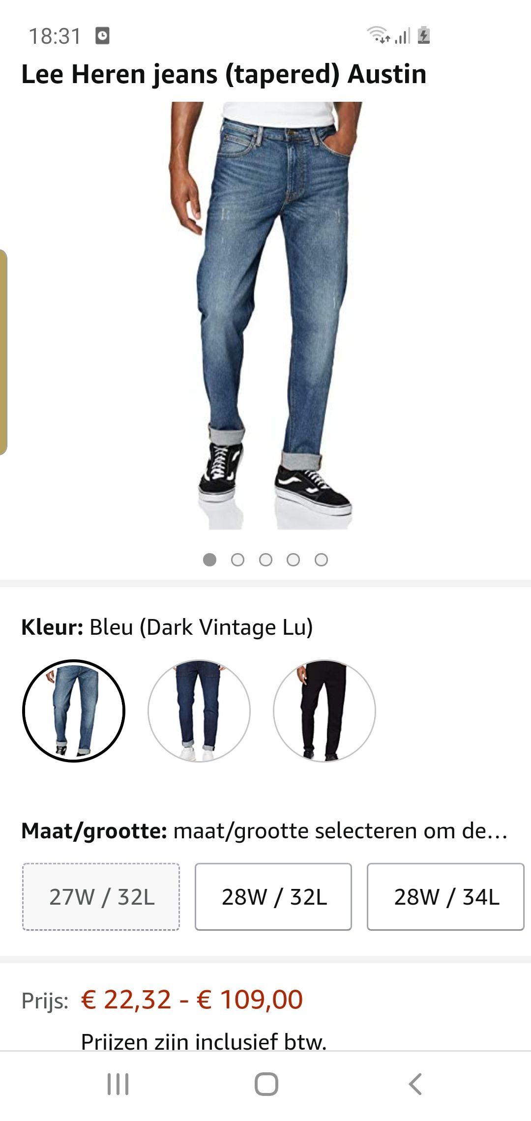 Lee jeans austin tapared