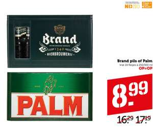 Krat Brand pils of Palm @Coop