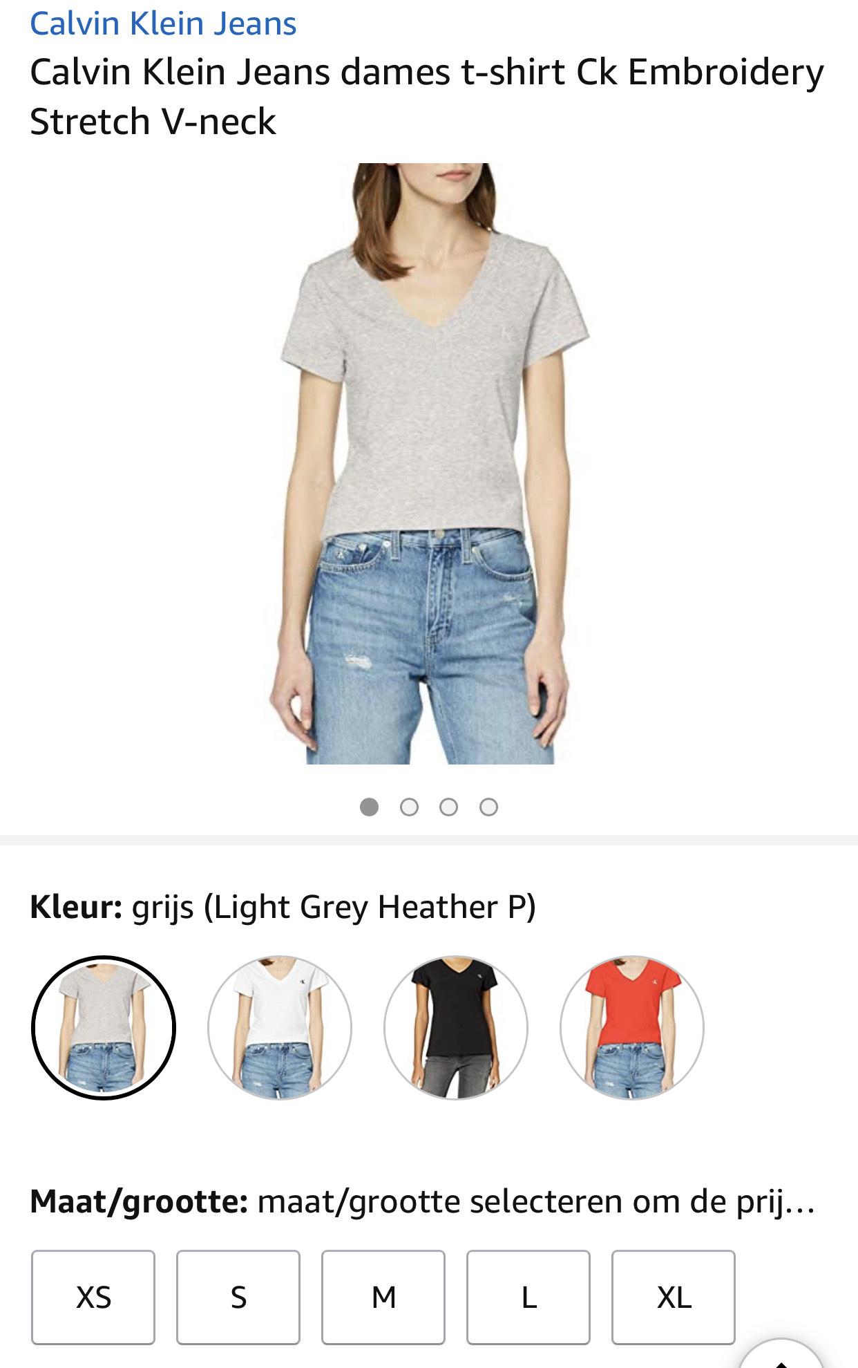 Calvin Klein Jeans dames t-shirt vanaf €12,32