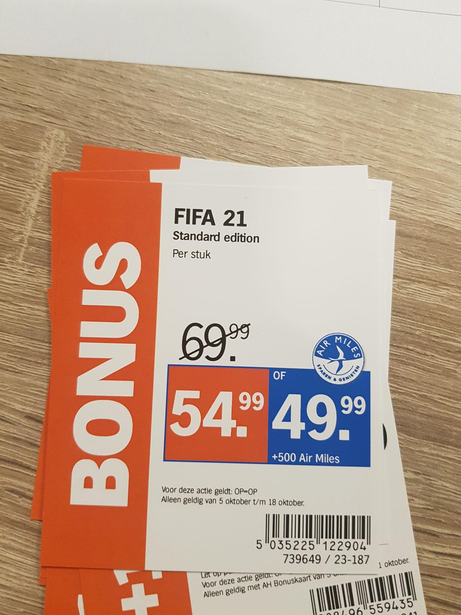 FIFA 21 PS4 €49.99 + 500 airmiles PS4 @ Albert Heijn