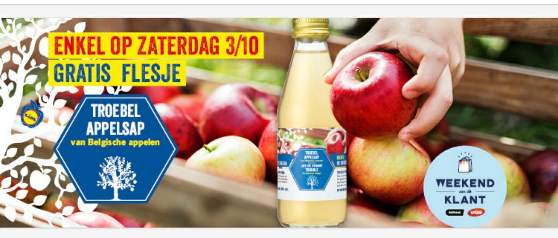 [GRENSDEAL BELGIË] gratis flesje Troebel appelsap (dag van de klant)
