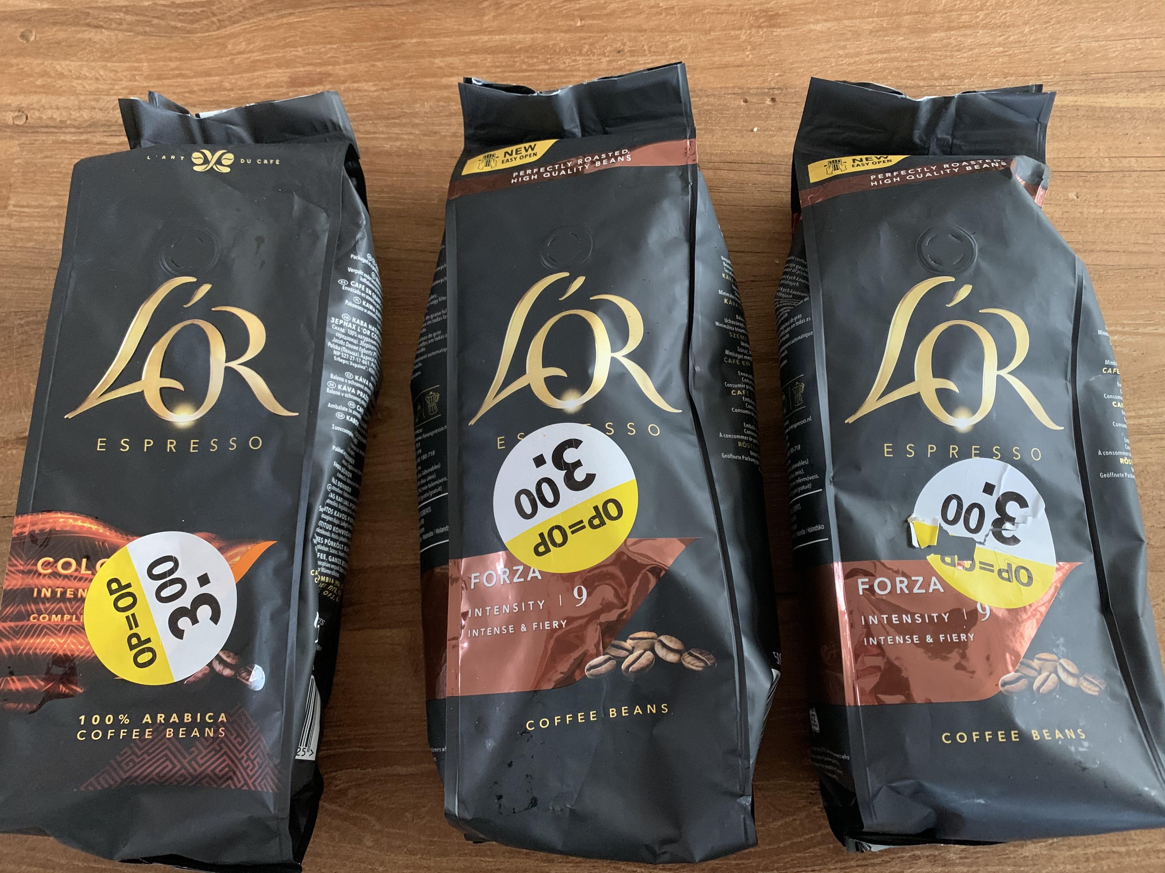 L'OR espresso bonen Forza 9 @Albert Heijn Scharnerweg Maastricht