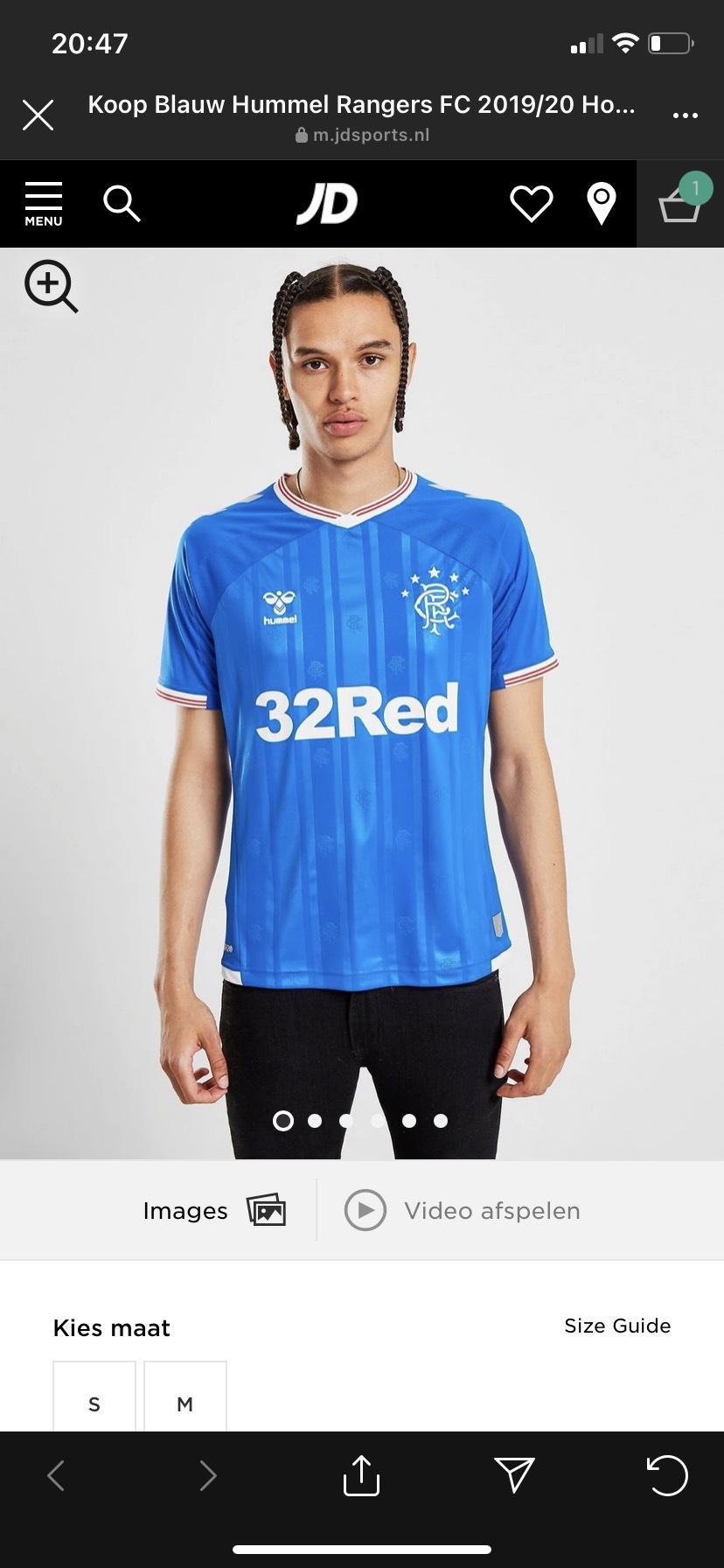 Hummel Rangers FC 2019/20 Home Shirt Heren