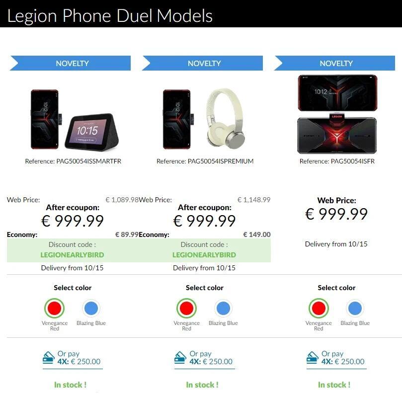 Gratis cadeau bij Legion Phone Duel pre-order