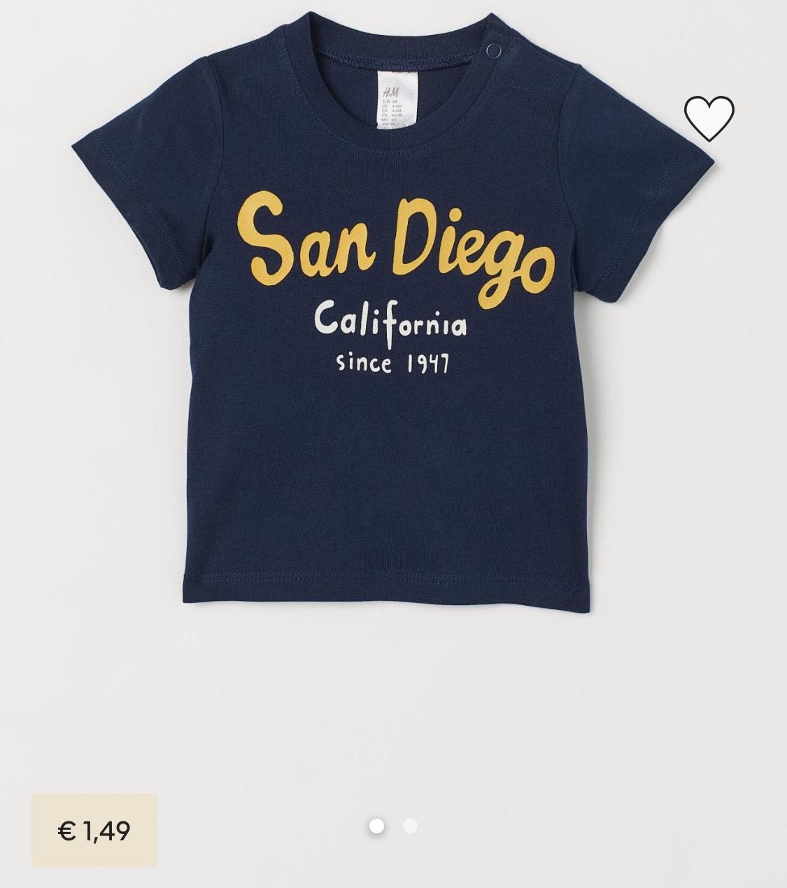 Slechts €1,49: leuk baby T-shirt van H&M in maat 74