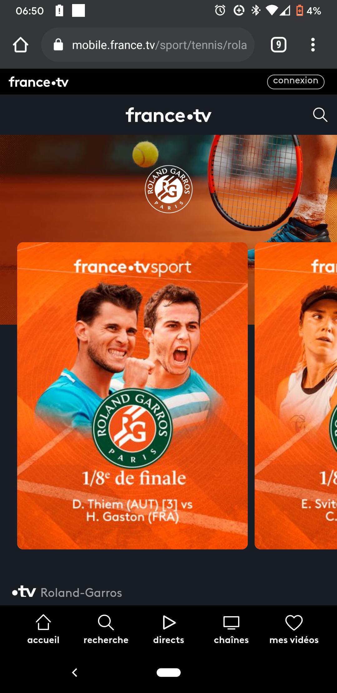 Gratis alle tv-banen kijken Roland Garros (mits met VPN)
