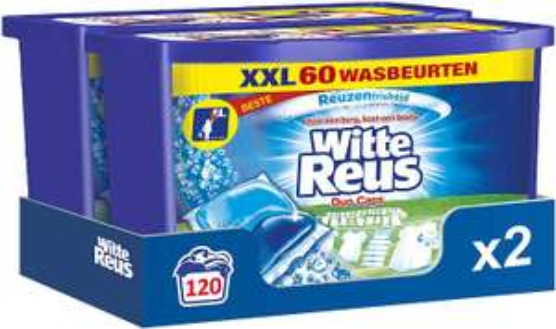 Witte Reus Duo Caps Wascapsules, Wasmiddel Capsules