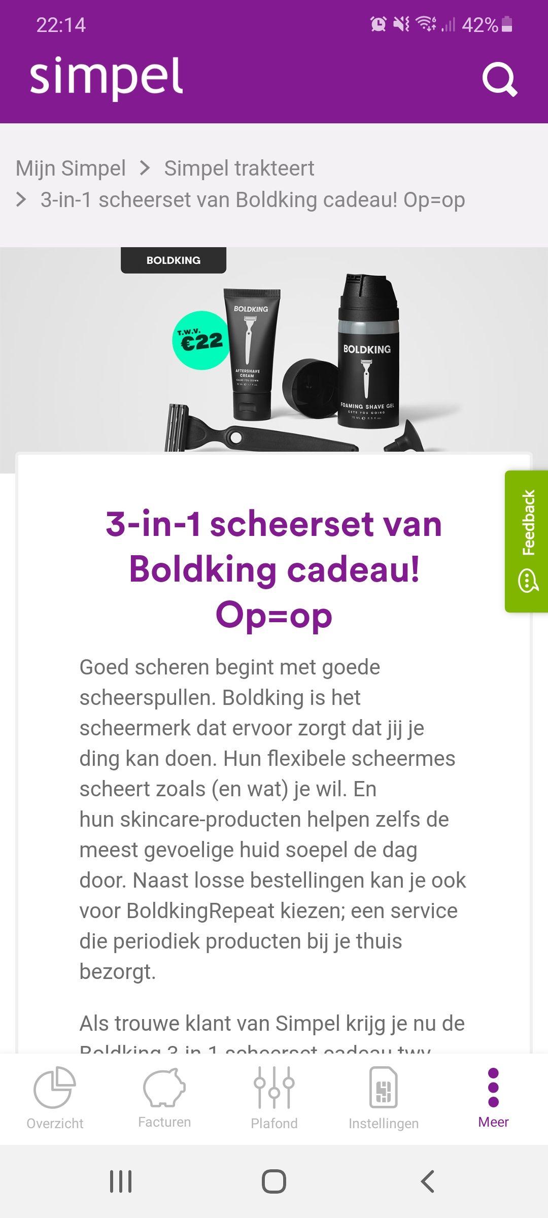 [Simpel klanten] 3-in-1 scheerset van Boldking cadeau (alleen verzendkosten €3)