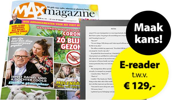 Gratis Omroep Max Magazine en maak kans op een Kobo e-reader!