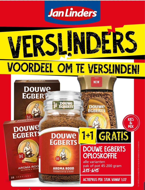 Jan Linders - Douwe Egberts alle oploskoffies 1+1 gratis