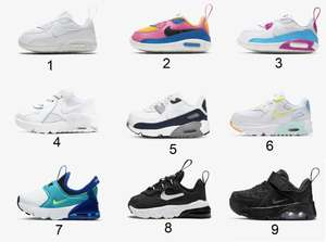 Nike Air Max voor baby's/peuters sale + 20% extra korting - v.a. €29,18 @ Nike