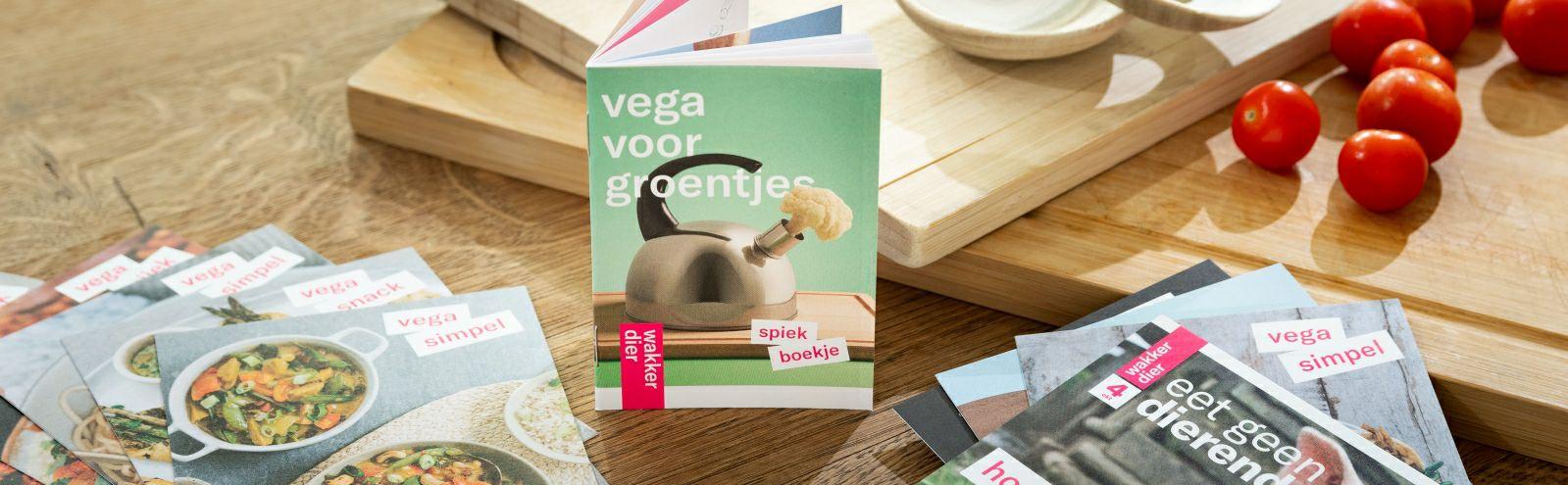 Gratis vegetarisch receptenboek van Wakker dier
