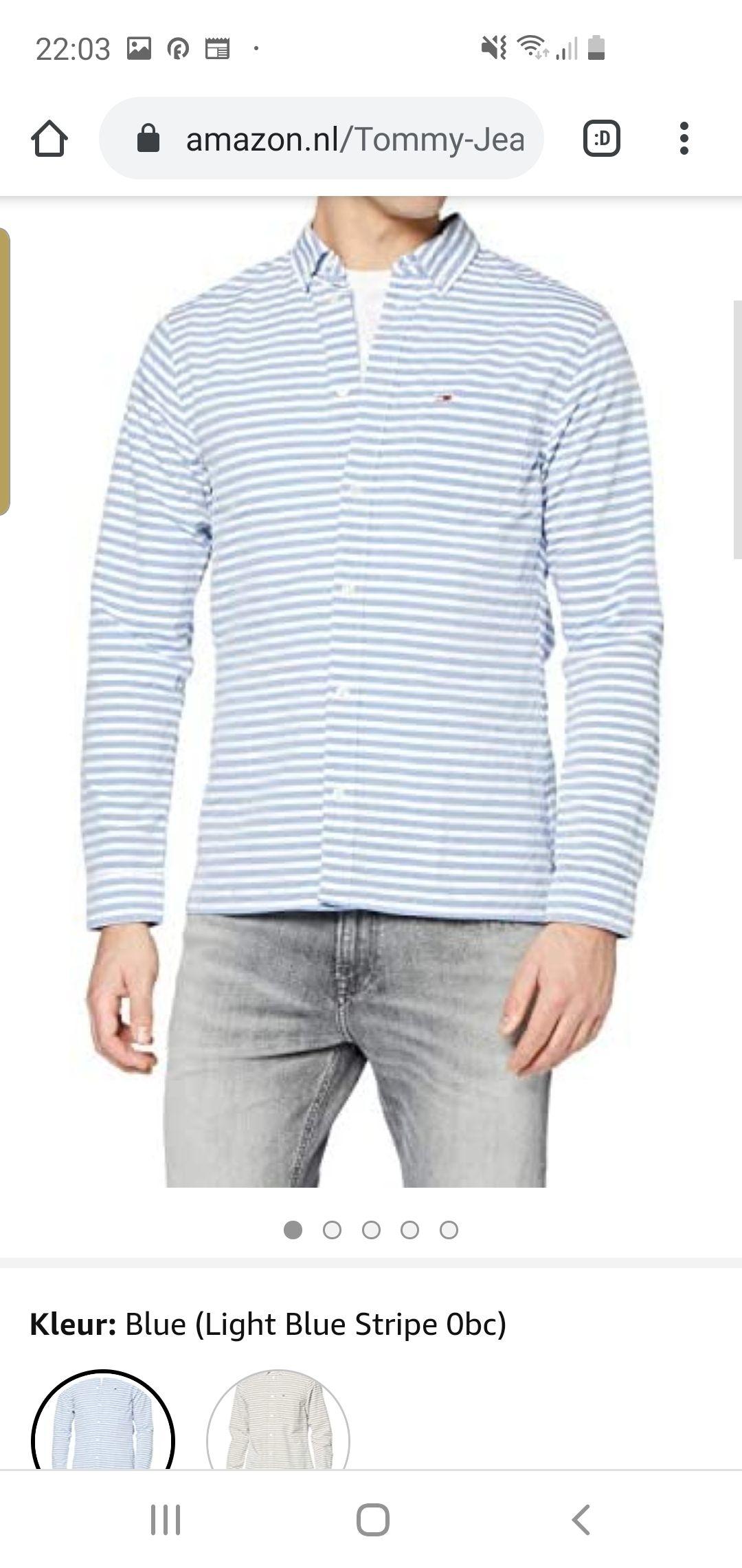 Tommy Jeans Heren TJM Horizontale Streep Shirt Casual