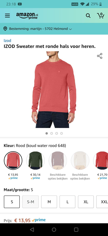 IZOD Sweater met ronde hals voor heren
