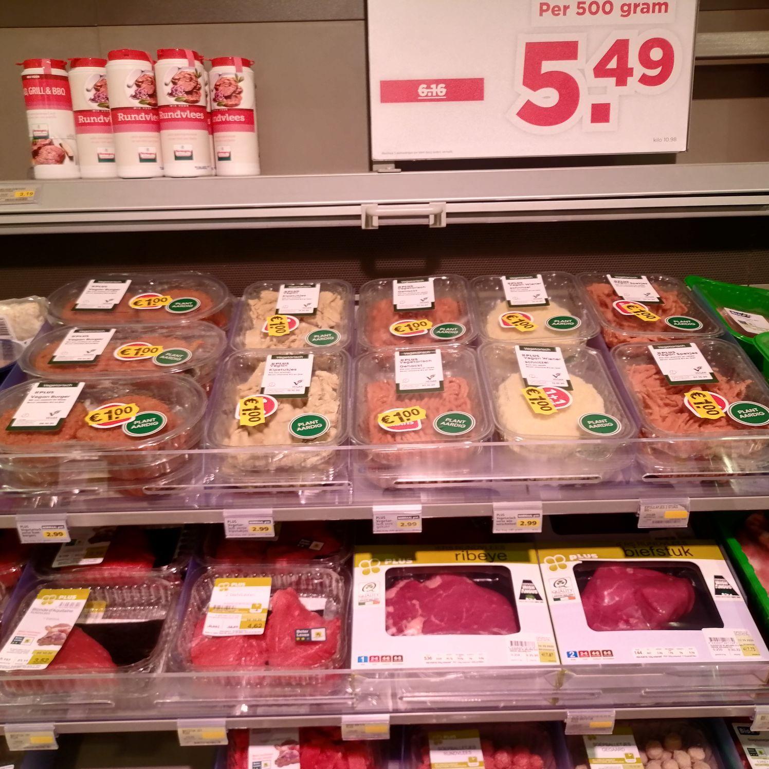 [LOKAAL?] Vegan 'vlees' vervangers @ PLUS
