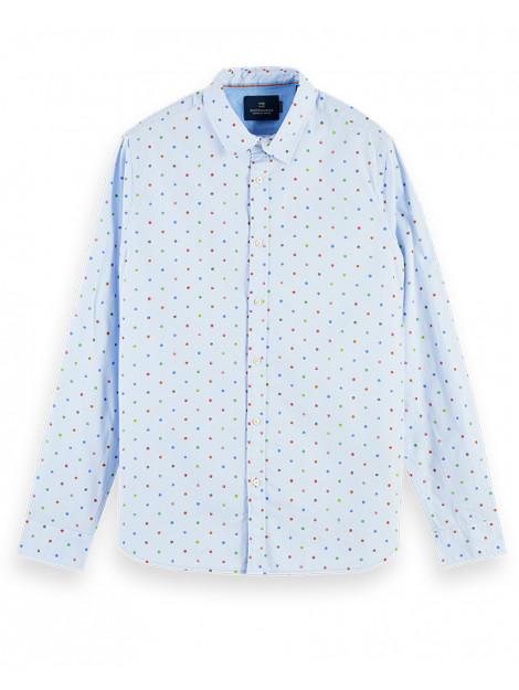 Scotch & Soda heren shirt REGULAR FIT- Classic all-over printed poplin shirt