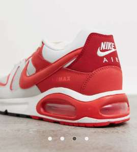 Nike Air Max Command in Platinum Tint & Red