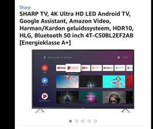 Sharp 50 inch 4K ultra HD Android HDR10 BLUETOOTH WIFI grensdeal