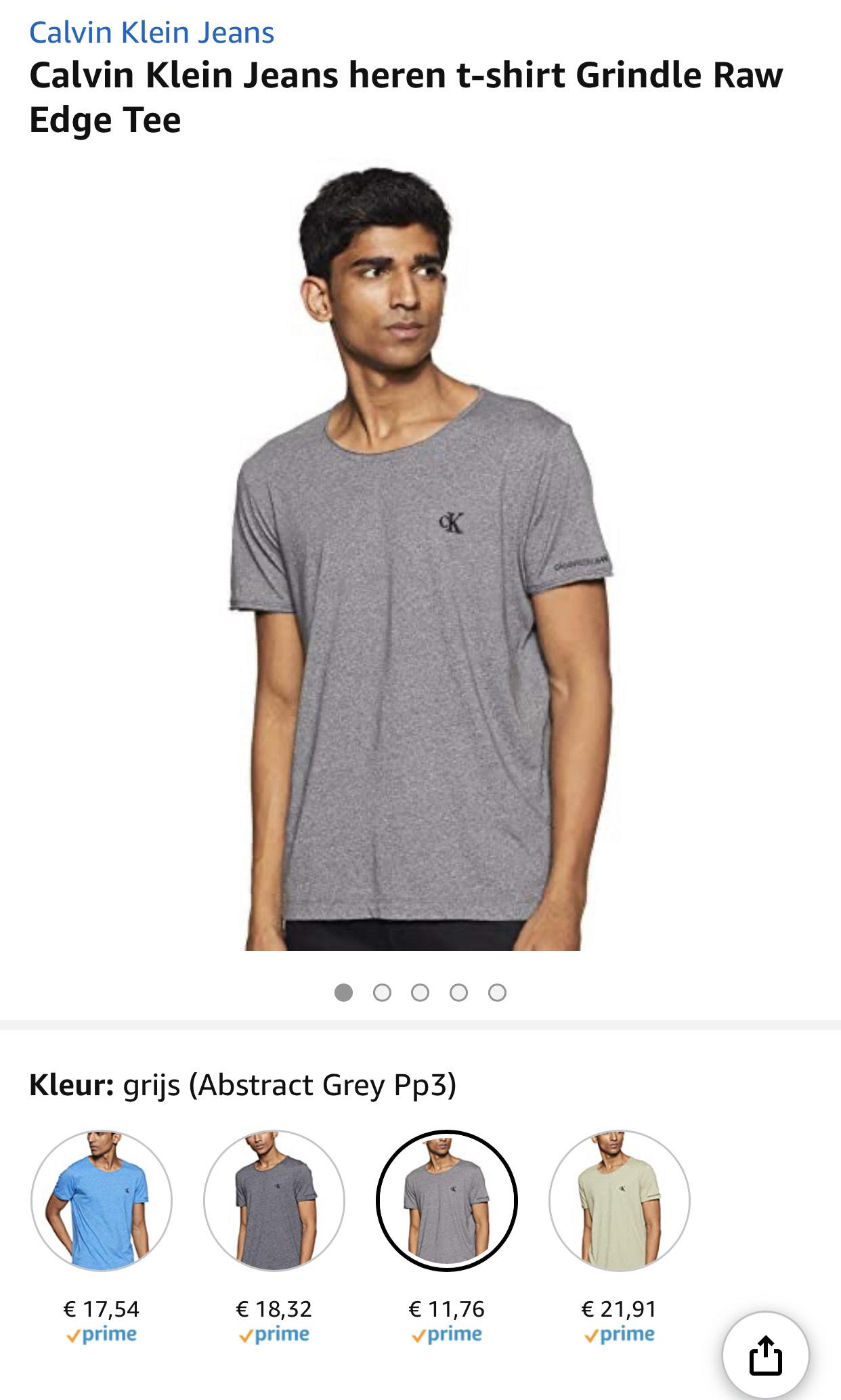 Calvin Klein Jeans heren t-shirt vanaf €11,76