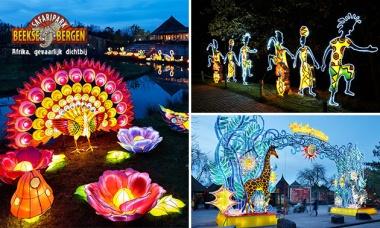 Entree voor Africa by Light in Safaripark Beekse Bergen - €11,95 @ Socialdeal