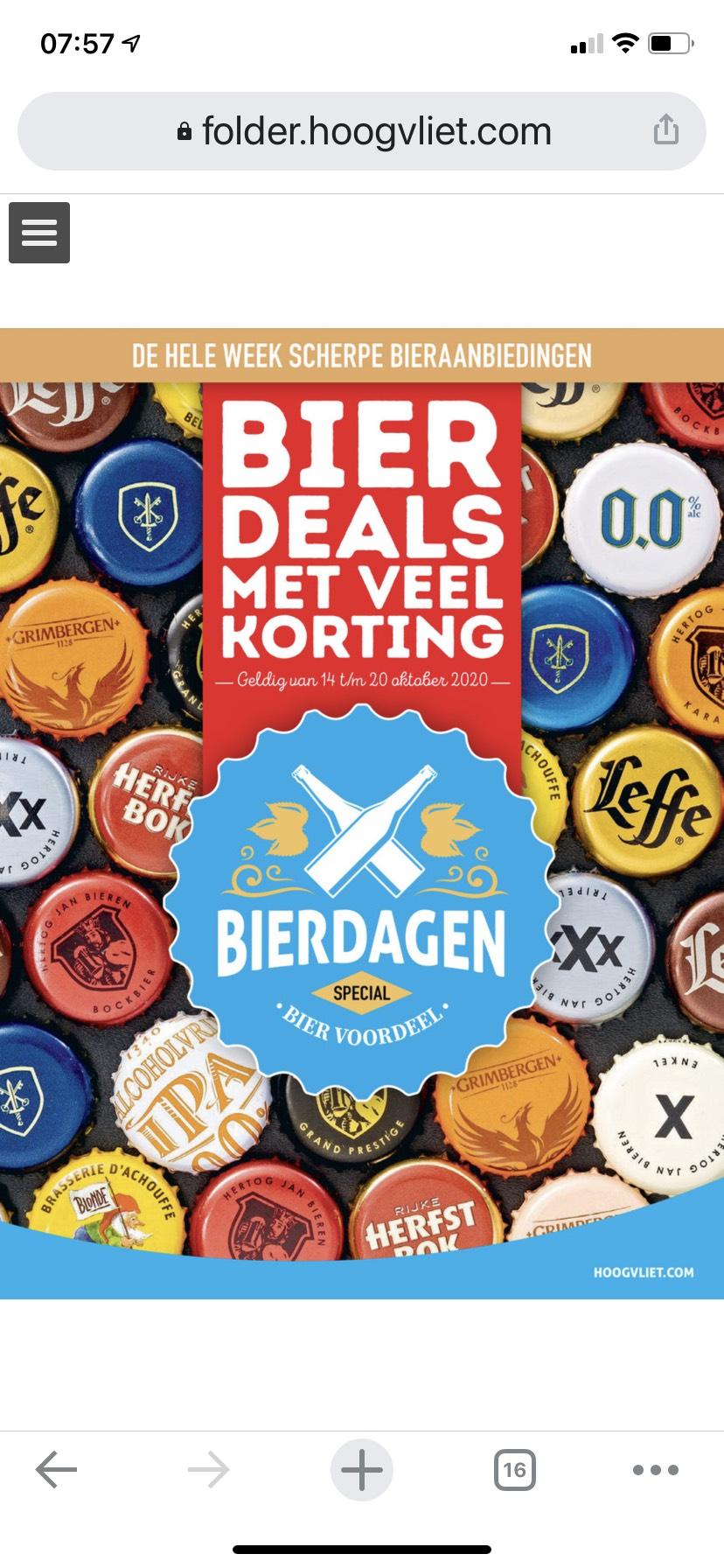 [Hoogvliet] speciaal bier 50% korting OA Leffe,Affligem