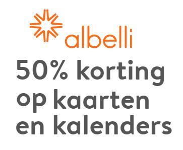 Kortingscode voor 50% korting op fotokalenders en fotokaarten @ Albelli