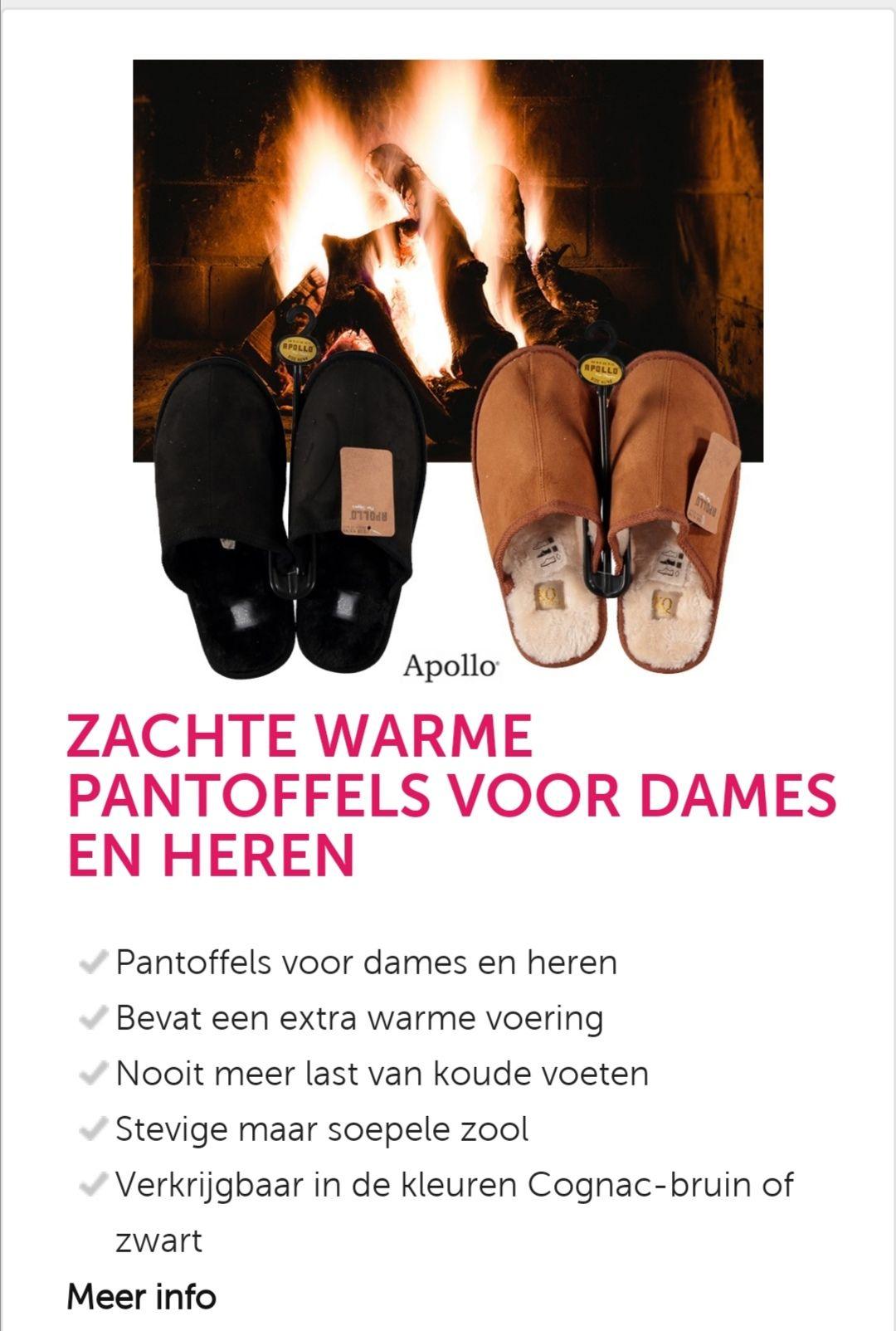 Pantoffels voor Heren en Dames