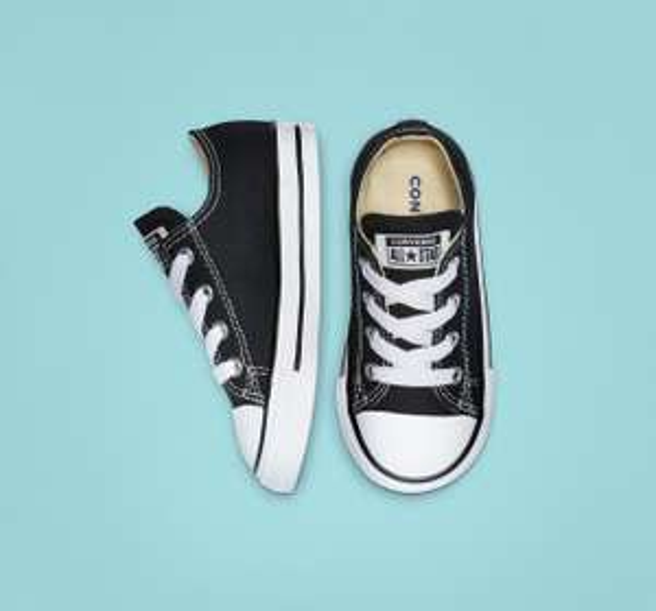 Converse All Star schoentjes - zwart en roze