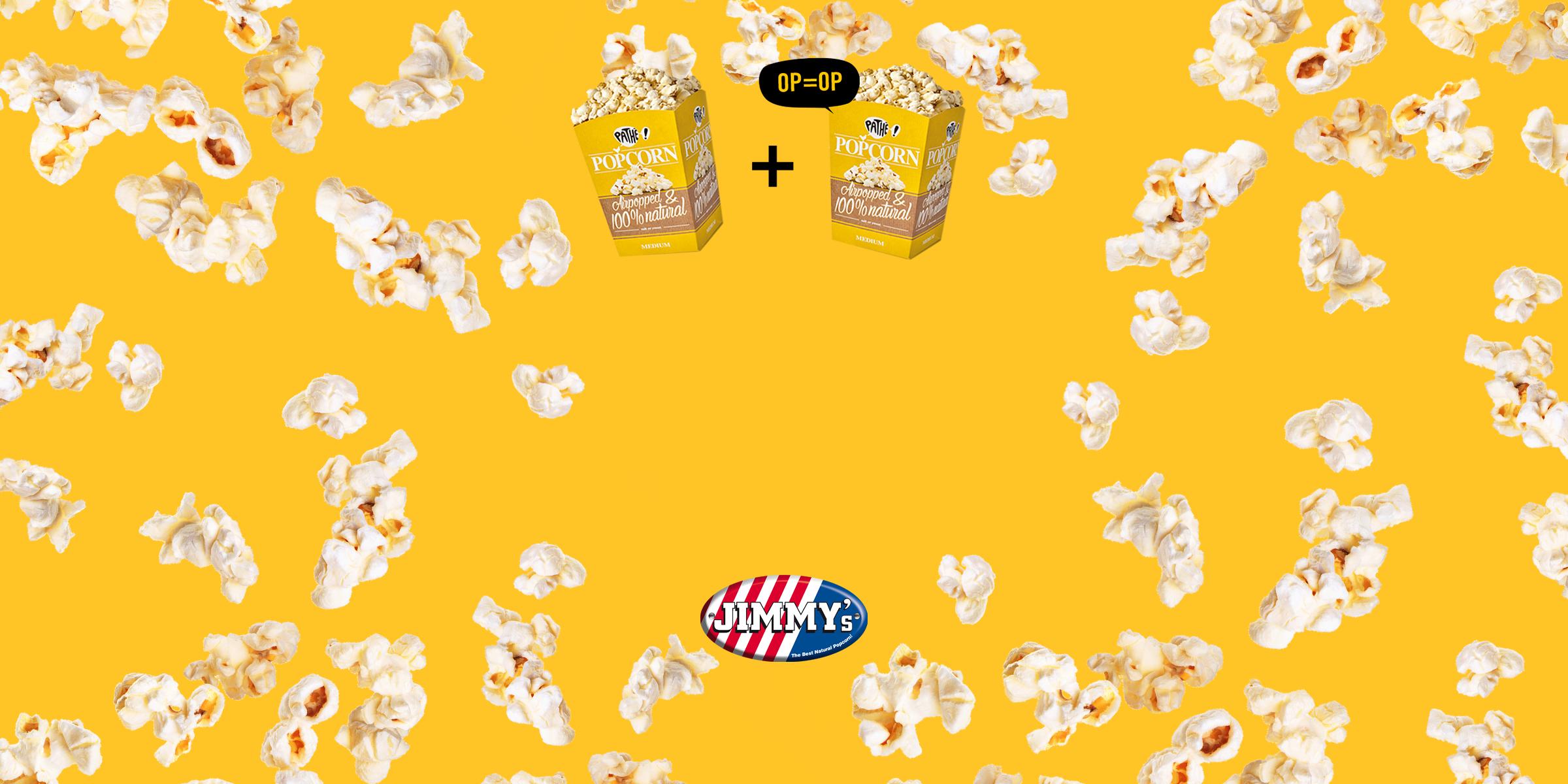 Gratis tweede popcorn bij Pathé