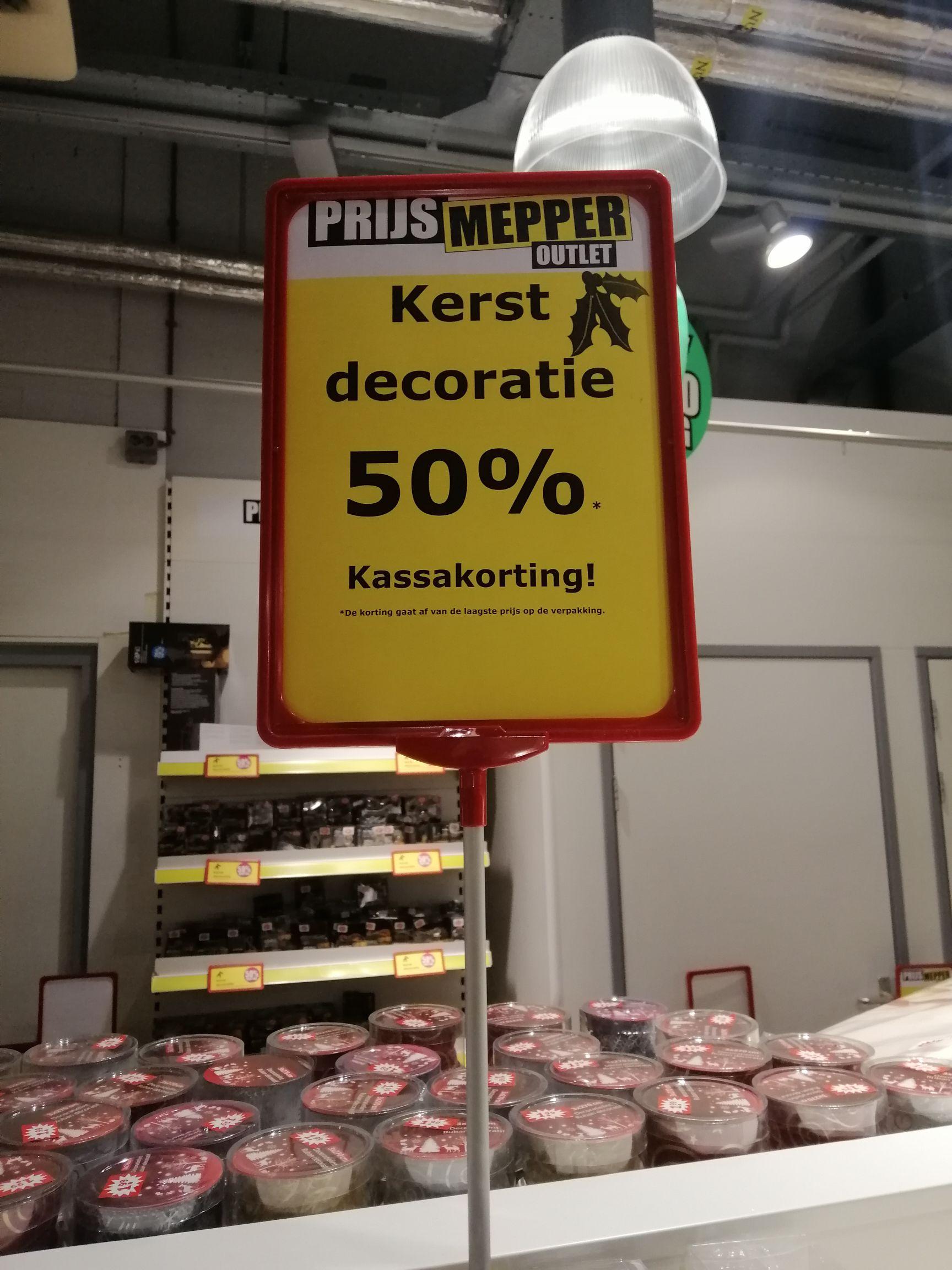 Prijsmepper Arnhem 50% korting op kerstartikelen
